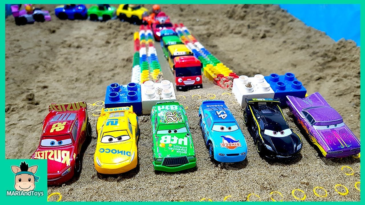 Photo of Cars toy videos for Children. Building bridge with truck, excavator. Songs for Kids | MariAndToys