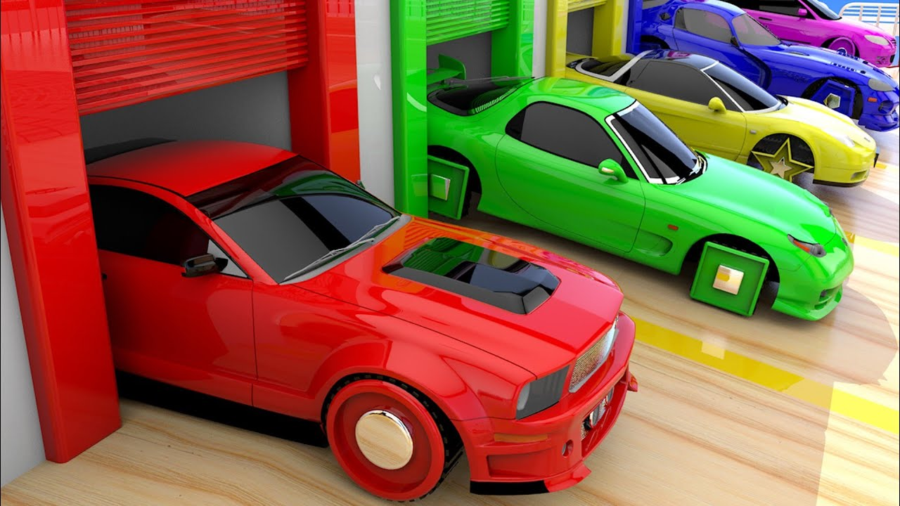 Photo of Racing Sports Cars Shapes Wheels Change 3D Parking Cars for Kids to Learn Colors for Children