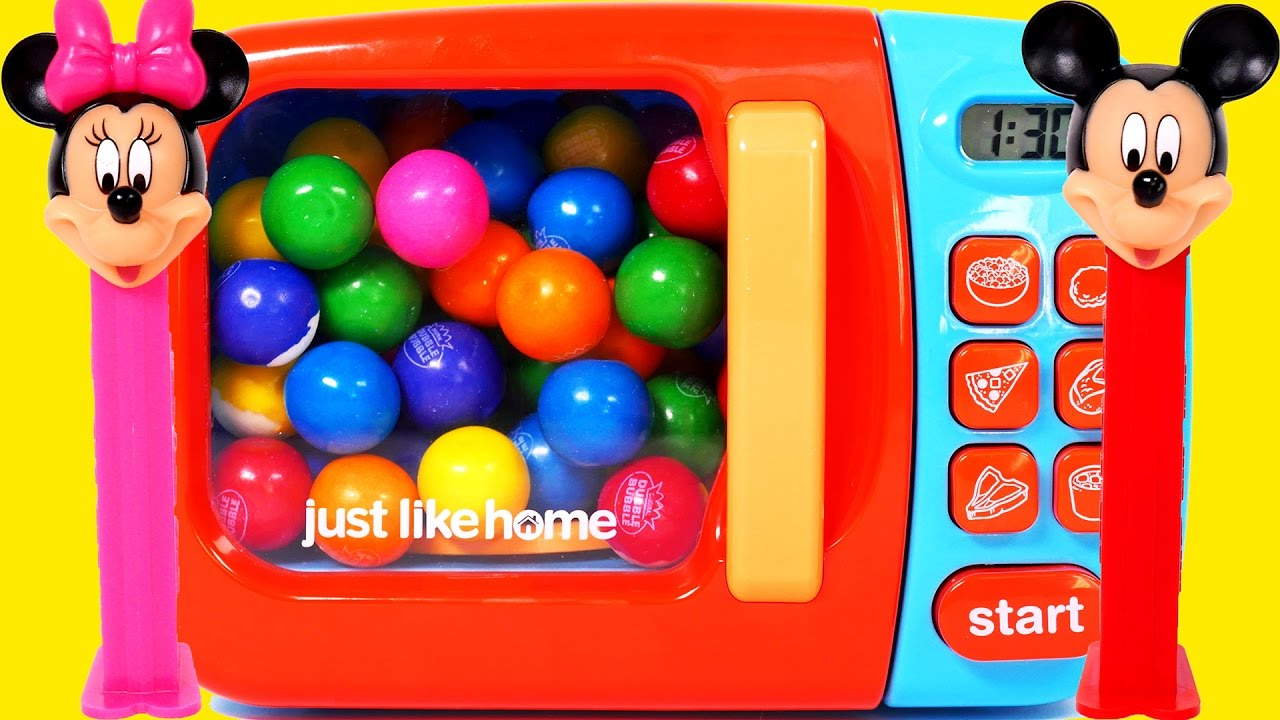 Photo of Microwave Candy Playset for Children Learn Colors for Kids