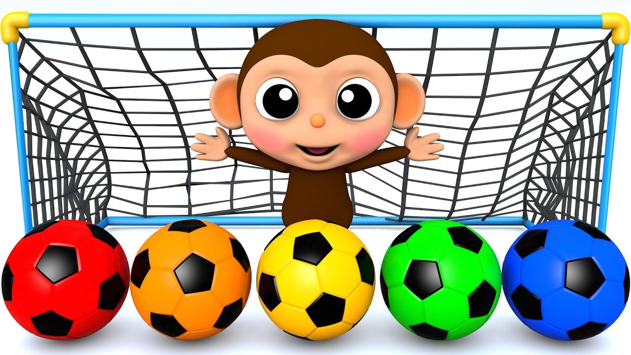 Photo of Learn Colors with Soccer Ball Baby Monkey Finger Song for Kid Children