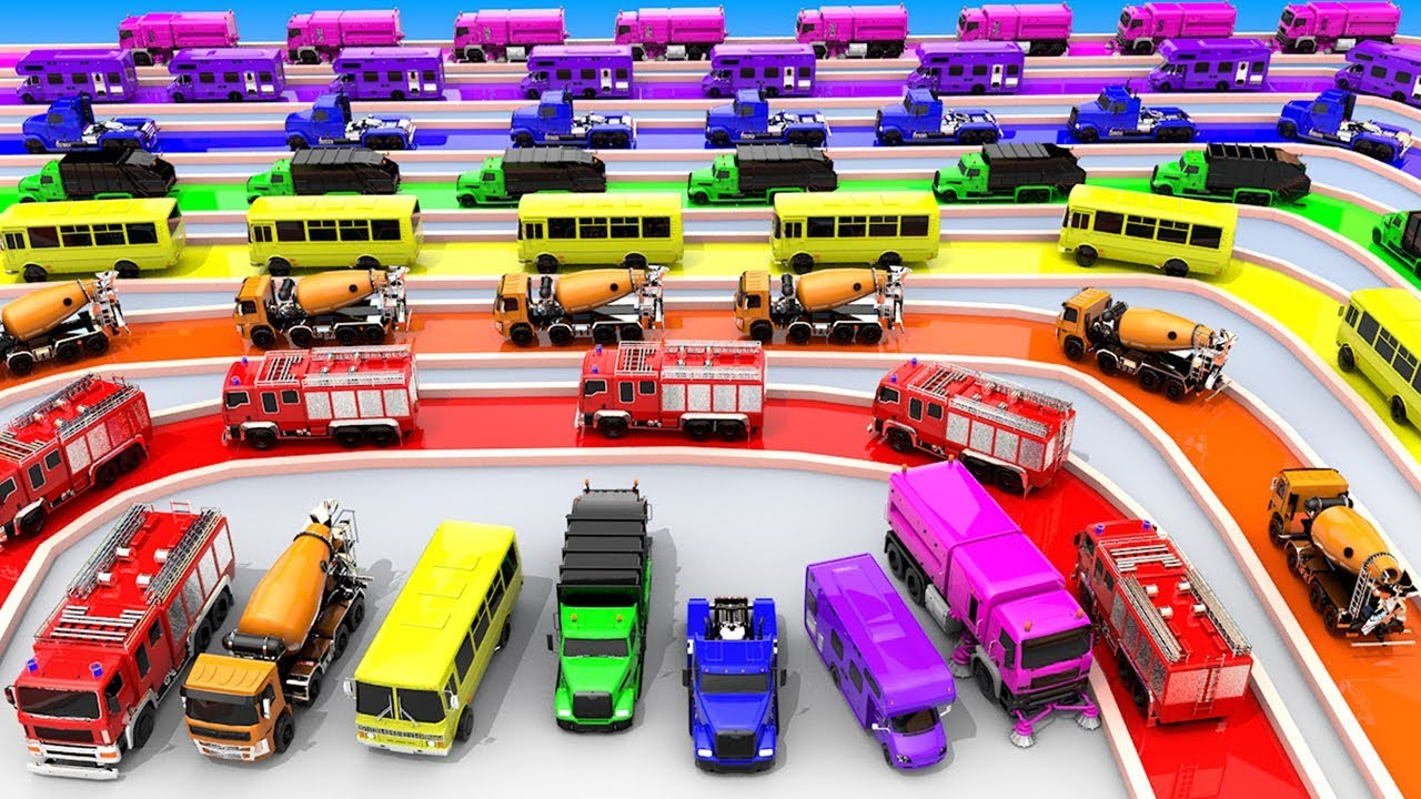 Photo of Street Vehicles Color Toy Track and Soccer Balls for Kids to Learn Colors for Children