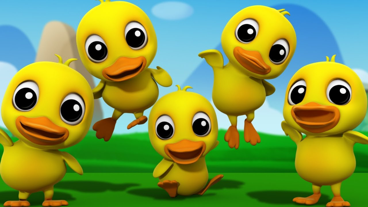 Photo of Five Little Ducks | 3D Nursery Rhymes | Kids Songs | Children's Music Video by Farmees