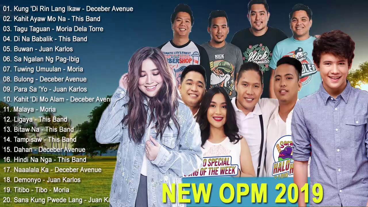 Photo of New OPM 2019 Playlist – December Avenue, Juan Karlos, Moira Dela Torre, This Band