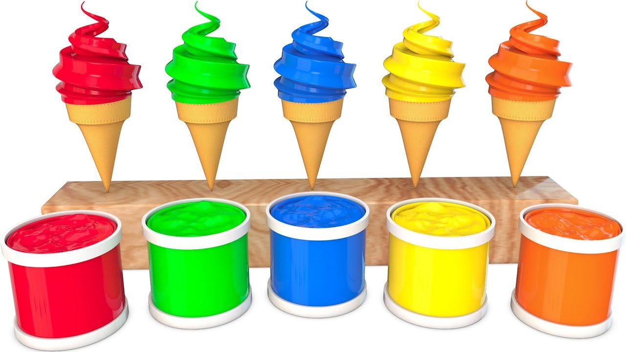 Photo of Learn Colors Cream And Learn Sports ball With Water Sliders for Kids Cartoon Songs For Children