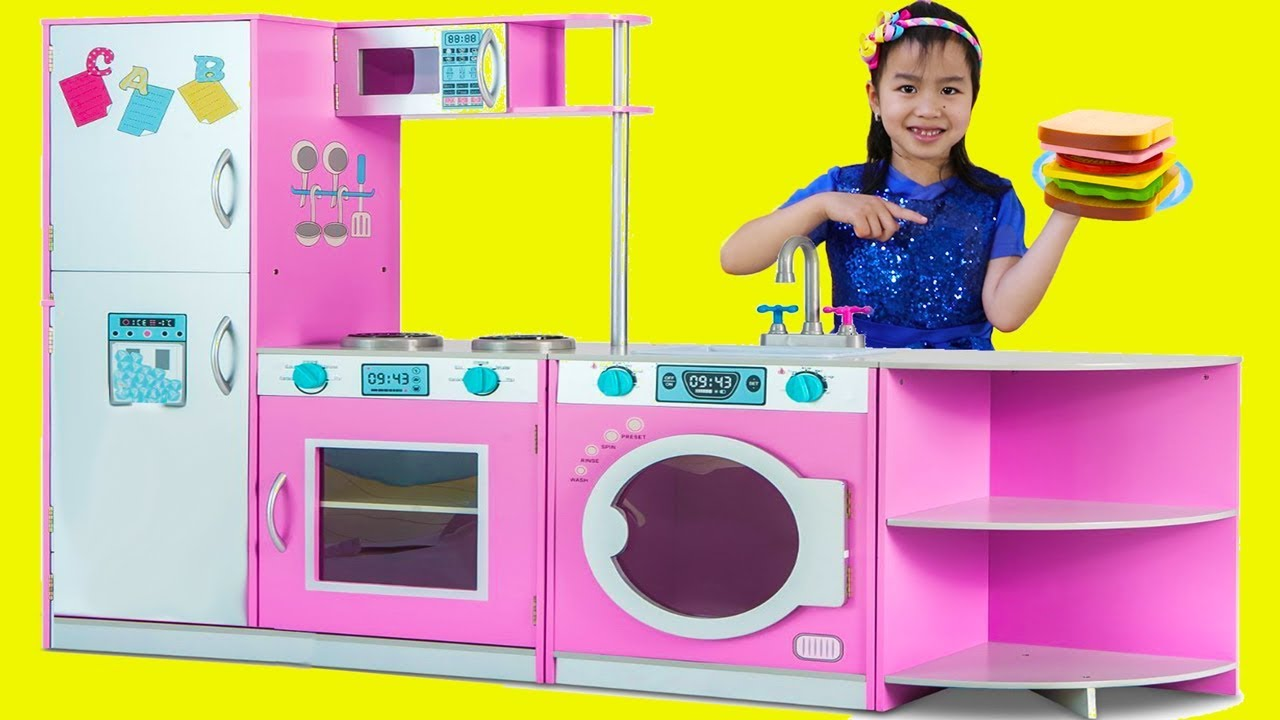Photo of Jannie Pretend Play with DELUXE Kitchen Toy Set