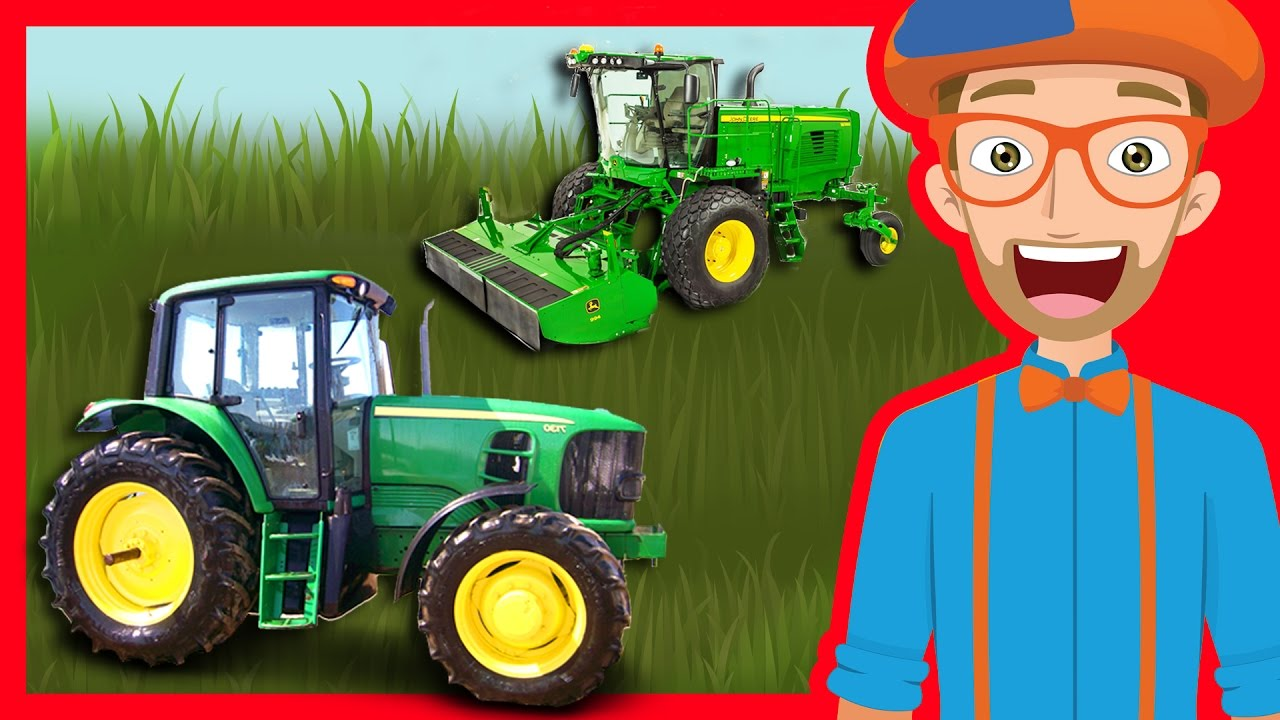 Photo of Tractors and Trucks for Children by Blippi | Educational Videos for Kindergarten