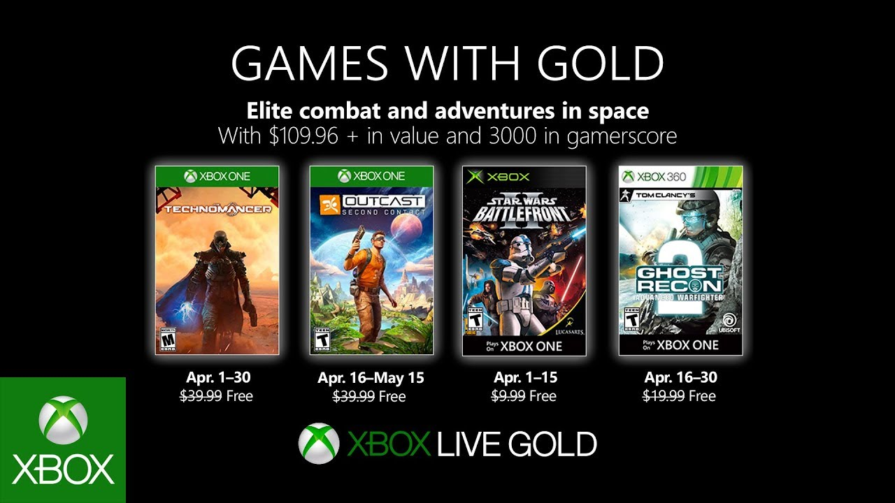 Xbox – April 2019 Games with Gold