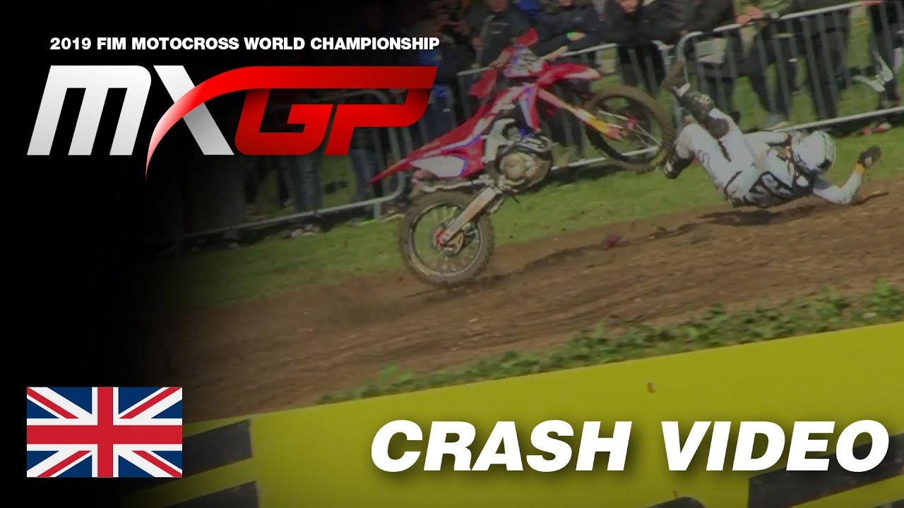 Tim Gajser Crash – MXGP of Great Britain 2019 #Motocross