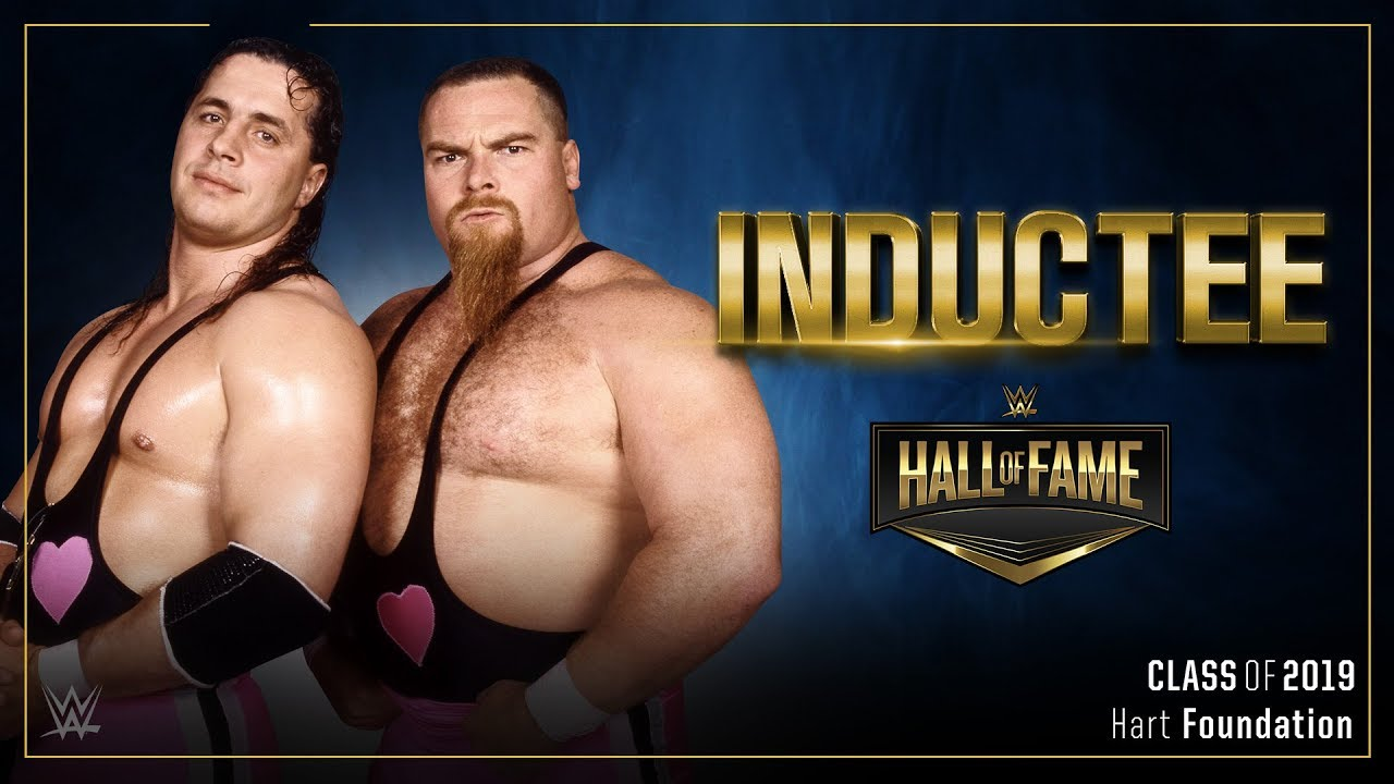 Photo of The Hart Foundation join the WWE Hall of Fame Class of 2019