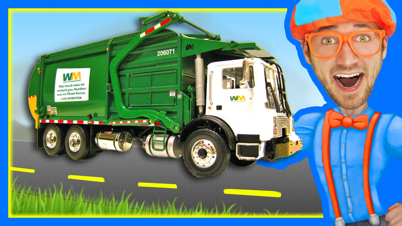Photo of Garbage Trucks for Children with Blippi | Learn About Recycling