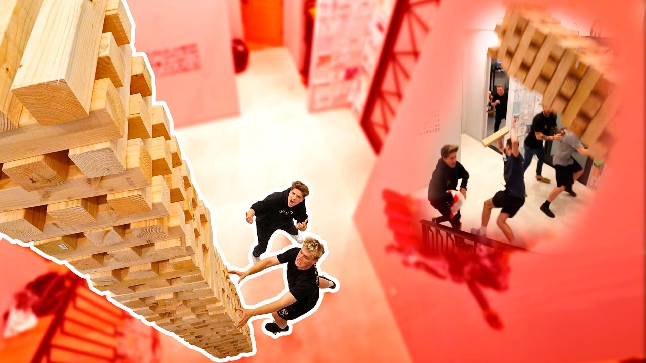 Photo of WORLDS BIGGEST GAME OF JENGA (INSANE TOWER FALL)