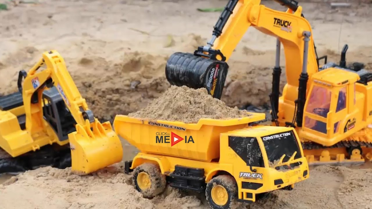 Excavators for Children and Truck for Children with 1 Hour Long | Videos for kids