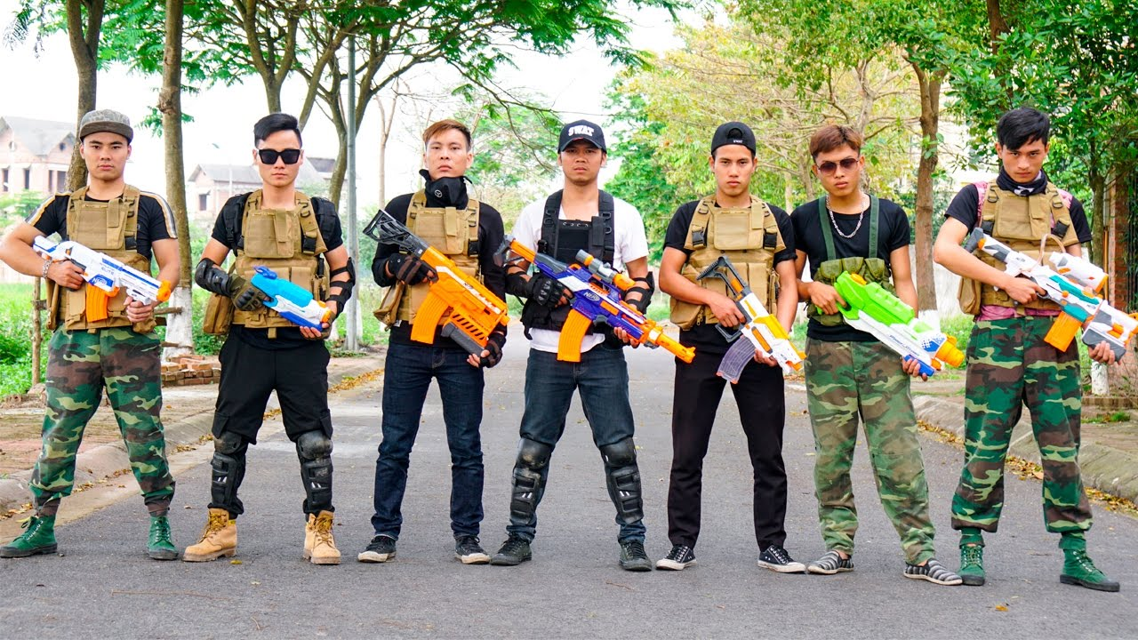 Photo of Nerf War Action Movies S.W.A.T sniper rescue the world Nerf Guns Army Special & Hacker Superhero gun