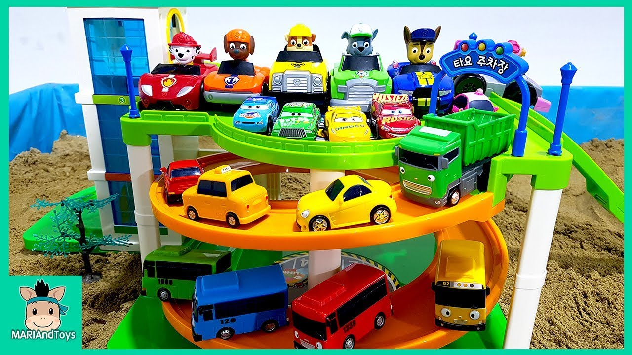 Photo of Cars toy videos for Children. Building Tayo Bus Parking Tower, Car3. Songs for Kids | MariAndToys