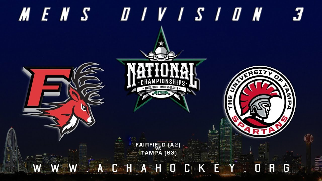 Photo of 2019 ACHA Men's D3 National Championships (Game 3): FAIRFIELD (A2) vs TAMPA (S3)