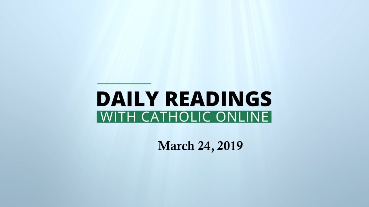 Photo of Daily Reading for Sunday, March 24th, 2019 HD