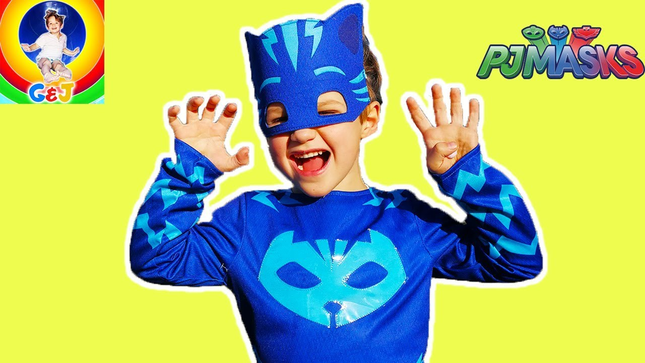 Photo of فيديو اطفال PJ Masks Costumes for Kids Video 🌈 Fun Pretend Play at the Park ⭐