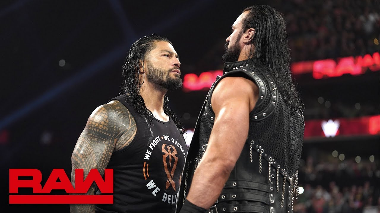 Photo of Roman Reigns accepts Drew McIntyre's WrestleMania challenge: Raw, March 25, 2019