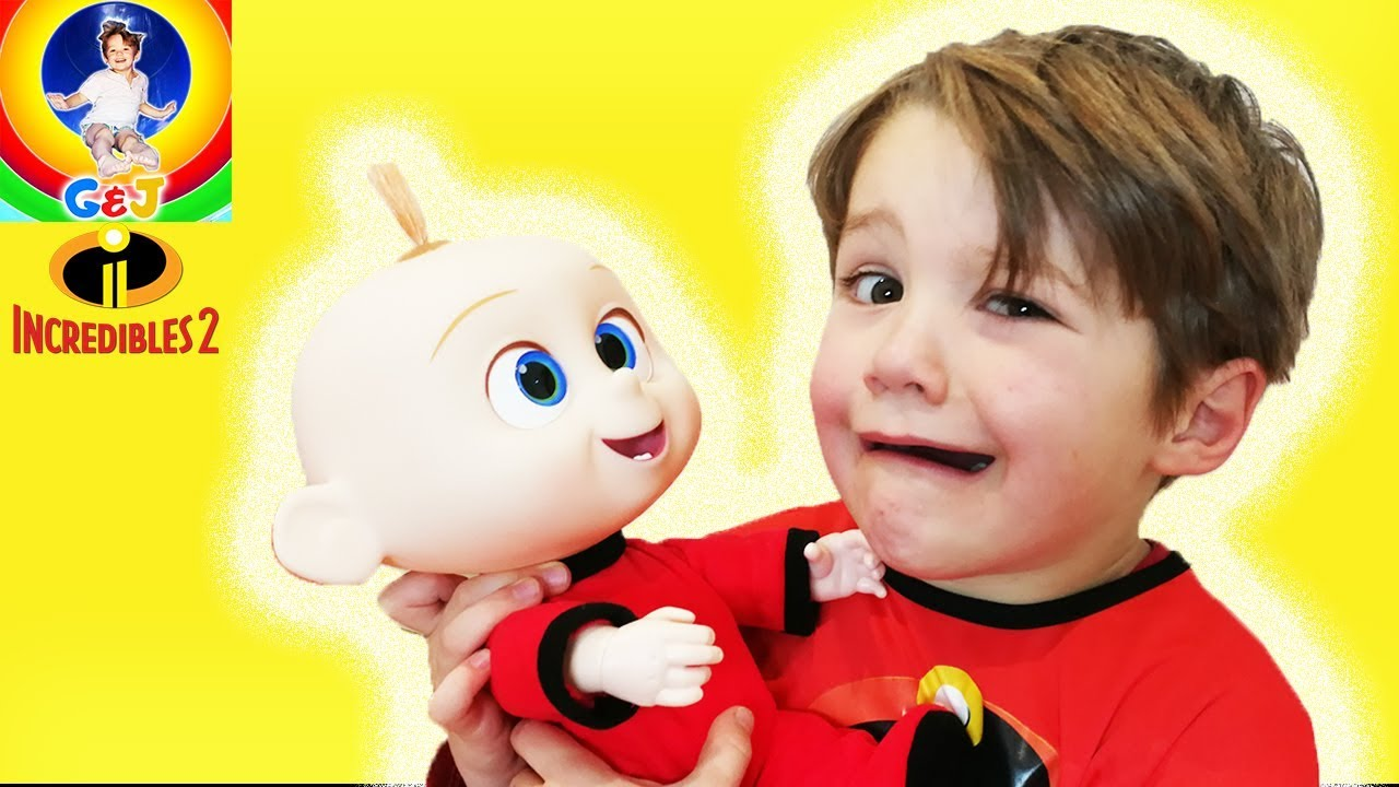 Photo of فيديو اطفال Babysit Jack Jack Pretend Play Kids Toys Fun ⭐ Incredibles Toys Video 😀