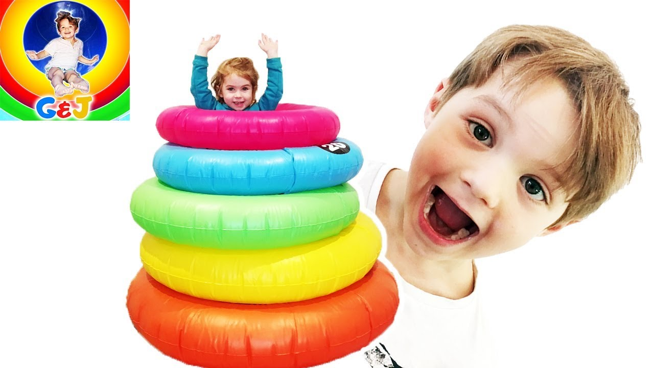 Photo of فيديو اطفال Learn Colors with Giant Stacking Rings for Kids 🌈 Pretend Play Kids Toys Fun ⭐