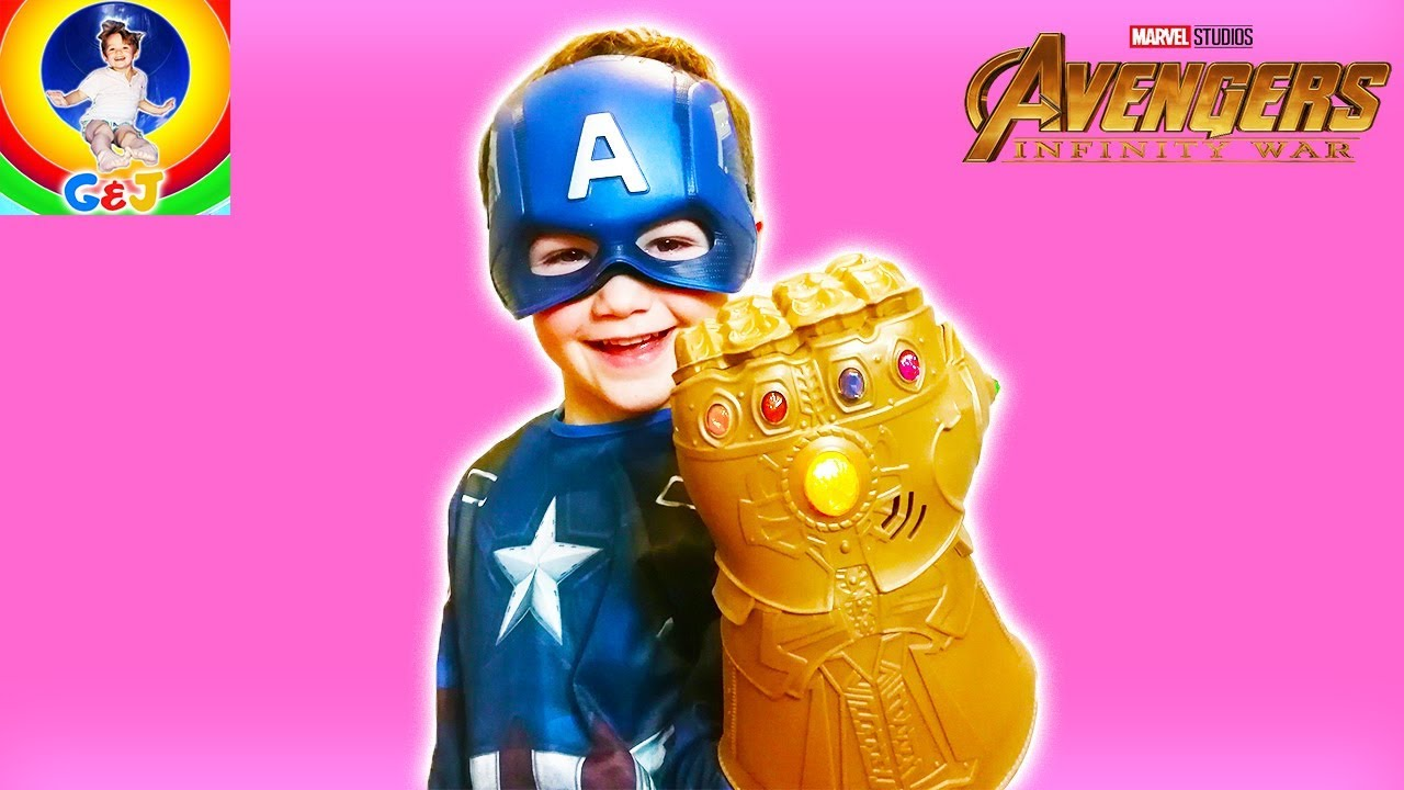 Photo of فيديو اطفال Kids INFINITY GAUNTLET Toy Review ⚡ Pretend Play Fun with Surprise Eggs 😀