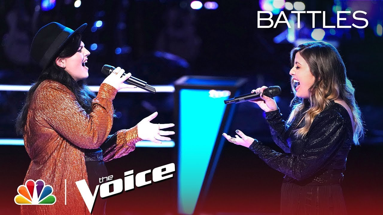 """Photo of Savannah Brister and Maelyn Jarmon Battle to """"When We Were Young"""" – The Voice Battles 2019"""