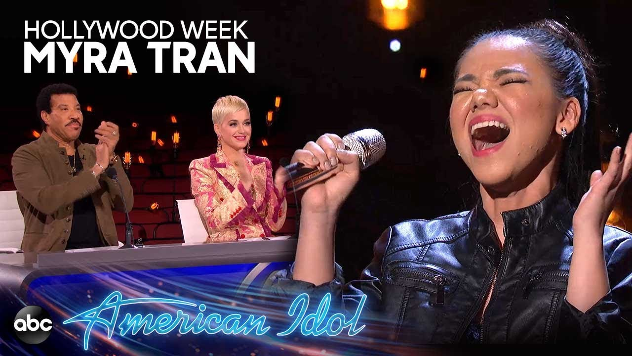 "Myra Tran Sings ""Chandelier"" by Sia at Hollywood Week – American Idol 2019 on ABC"