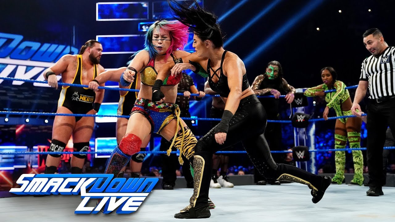 Photo of Eighteen-Person Mixed Tag Team Match: SmackDown LIVE, April 2, 2019