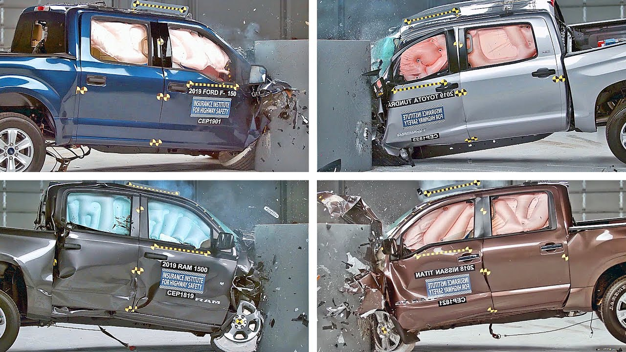 Crash Test 2019 Pickup Trucks – F150, Ram, Tundra, Titan...