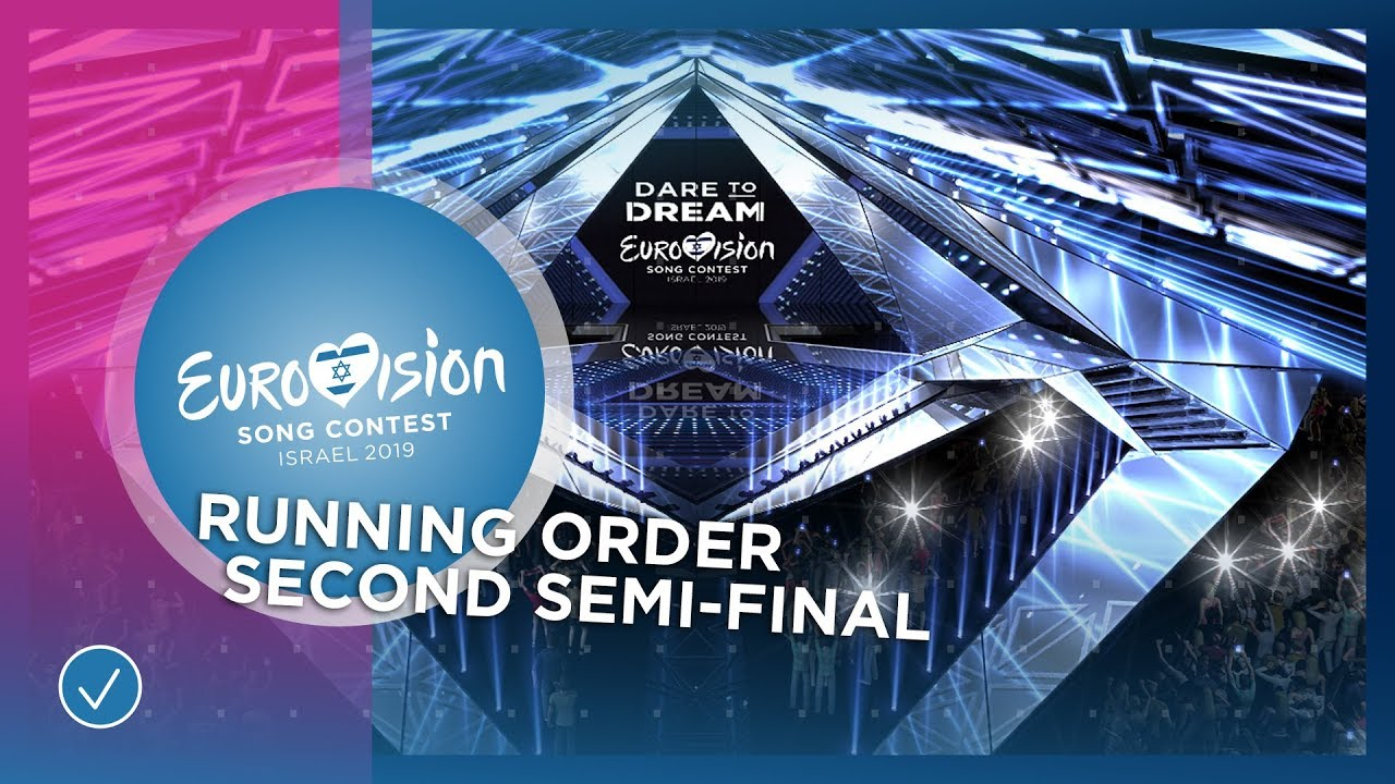 RUNNING ORDER: The Second Semi-Final of the 2019 Eurovision Song Contest
