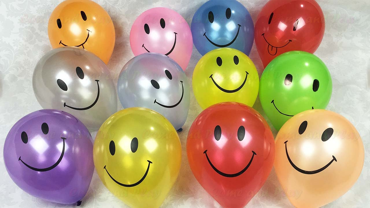Photo of Smiley Face Balloon Popping Show Learn Colours Children's Educational Video