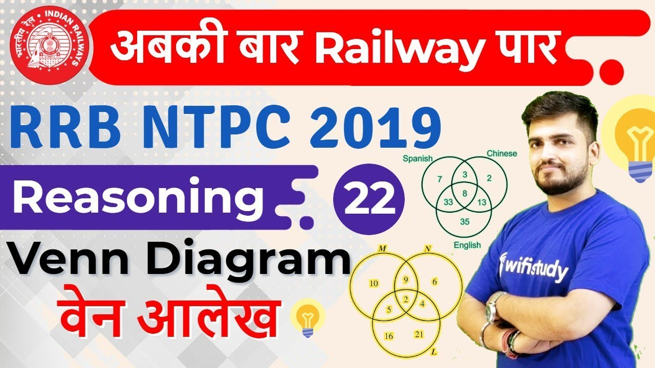 Photo of 1:30 PM – RRB NTPC 2019 | Reasoning by Deepak Sir | Venn Diagram
