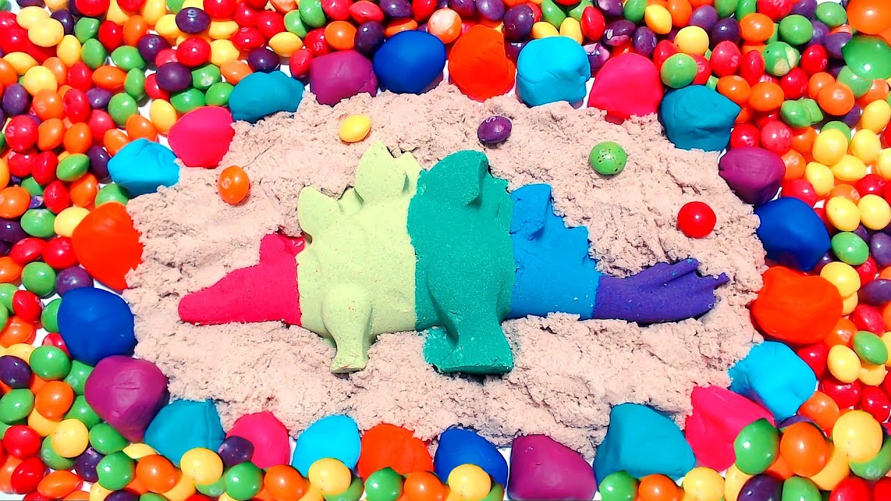 Photo of How to make rainbow dinosaur 🦕 with kinetic sand! 😁
