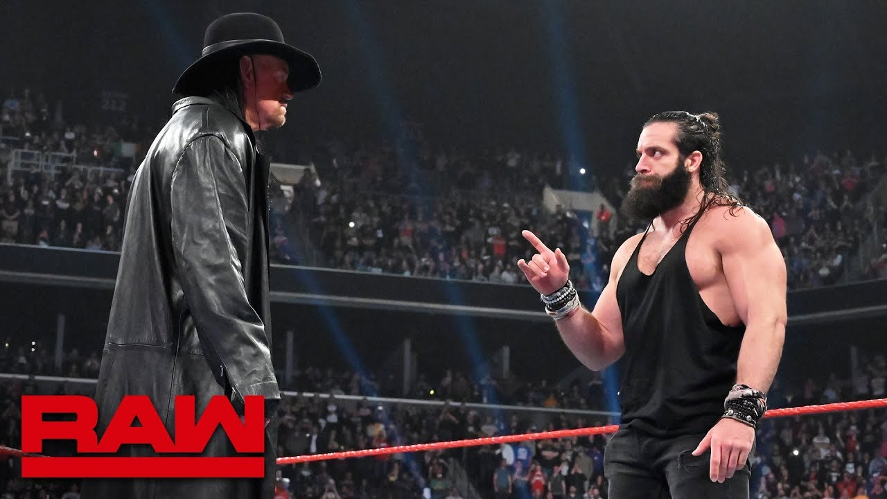 "The Undertaker returns to silence ""rapping"" Elias: Raw, April 8, 2019"