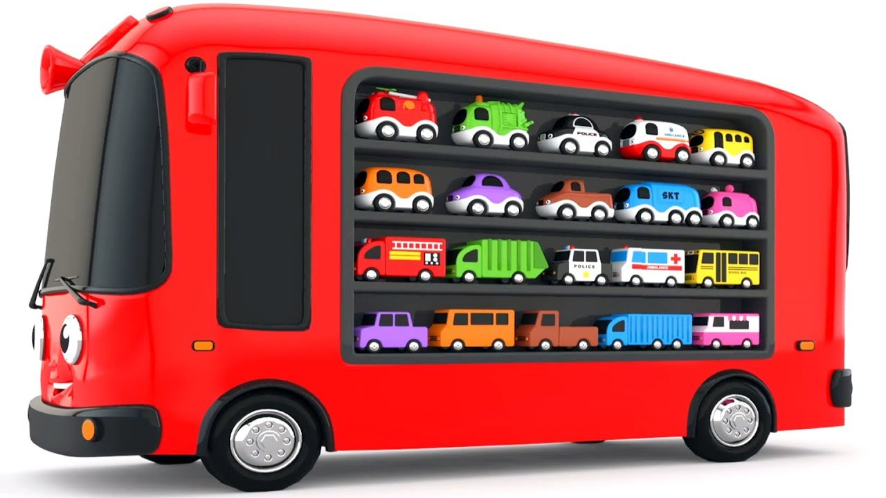 Photo of Colors for Children to Learn with Bus Transporter Toy Street Vehicles – Educational Videos
