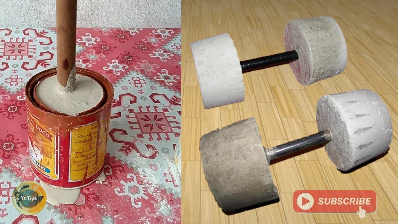 Photo of How to make homemade dumbbells cement at home | easy homemade barbells