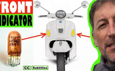 How to replace front indicator bulb on Vespa GTS
