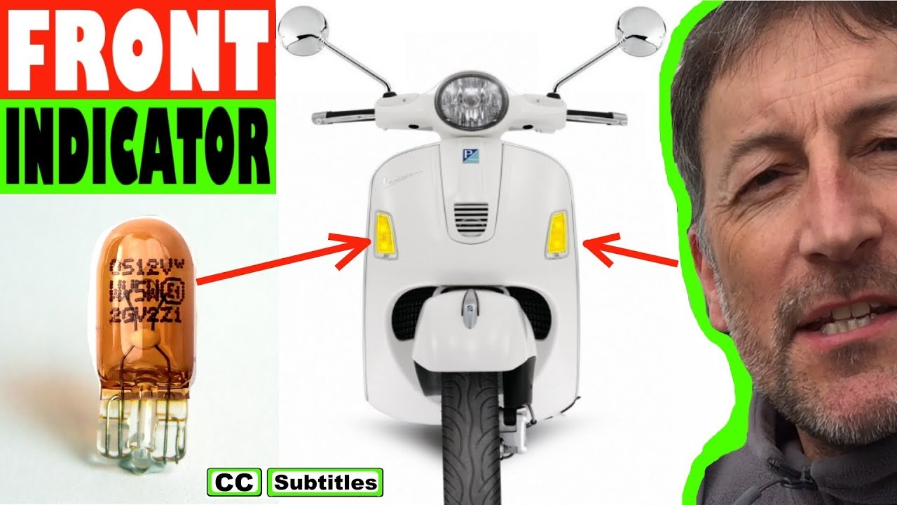 Photo of How to replace front indicator bulb on Vespa GTS