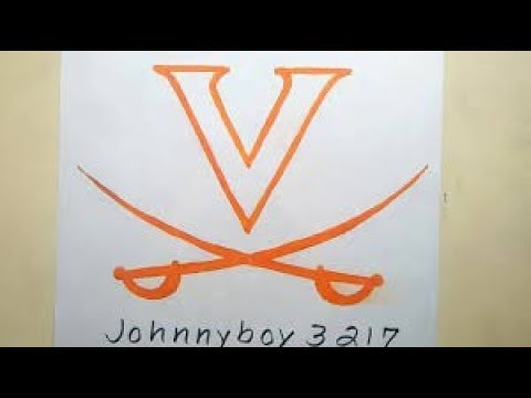 Photo of How To Draw Virginia Cavaliers National Champion Winner Logo Symbol College Basketball  Finals 2019