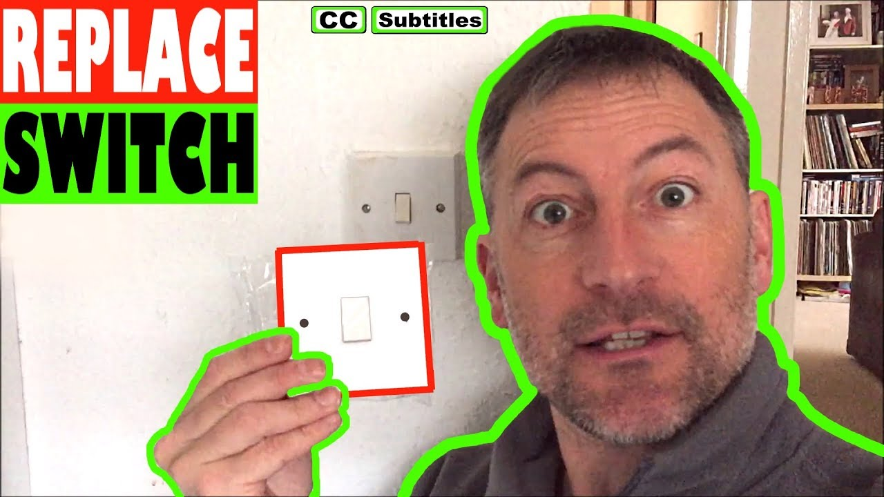 Photo of How to replace a light switch face plate single switch