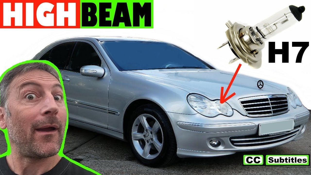 Photo of How to replace High Beam Bulb on Mercedes C-Class