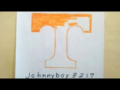 Photo of How To Draw Tennessee Volunteers Logo NCAA College Make Art Tutorial Sketch