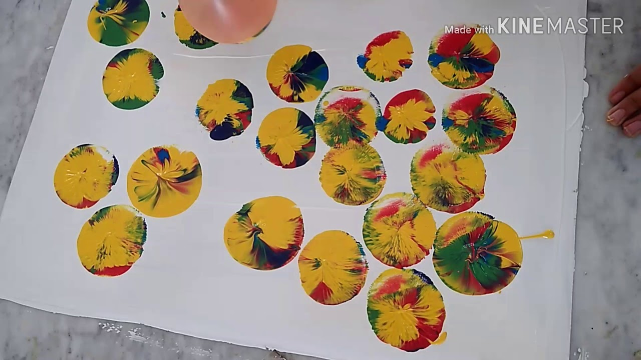 Photo of كيف تزخرف لوحة،قماش،جدار…دون أن تتقن الرسم؟/ Drawing roses with ballons technique