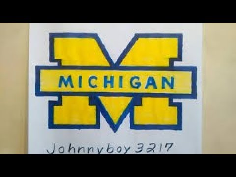 Photo of How To Draw Michigan Wolverines logo #2 College March Madness Doodle Tutorial