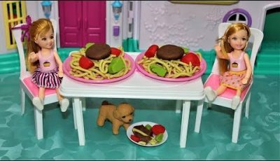 spaghetti play doh Doll Kitchen toys play doh 🥣 Pretend play Cooking food