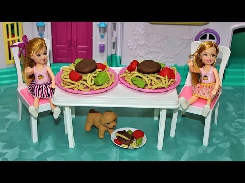 Photo of spaghetti play doh Doll Kitchen toys play doh 🥣 Pretend play Cooking food