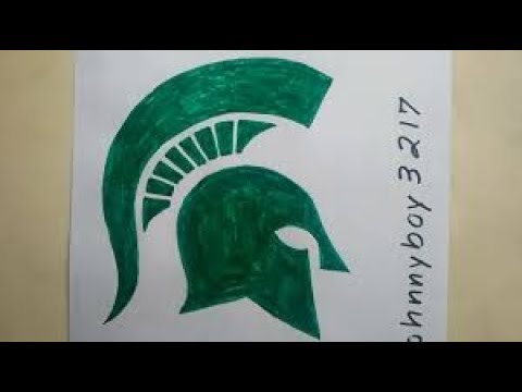Photo of How To Draw Michigan State Spartans Logo Symbol College Basketball Championship Final Four 2019