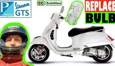 How to replace number plate bulb on Vespa GTS