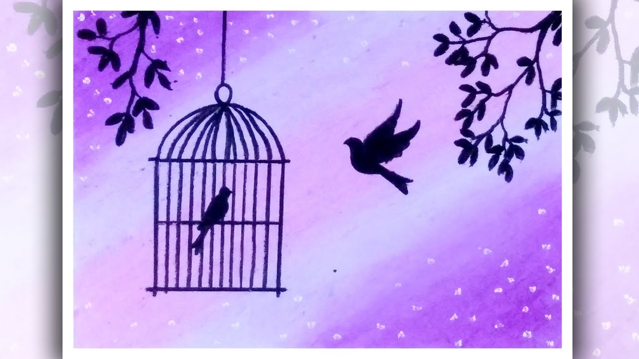 Photo of How to draw Birds Want freedom |  Birds in cage drawing | Oil pastels drawing