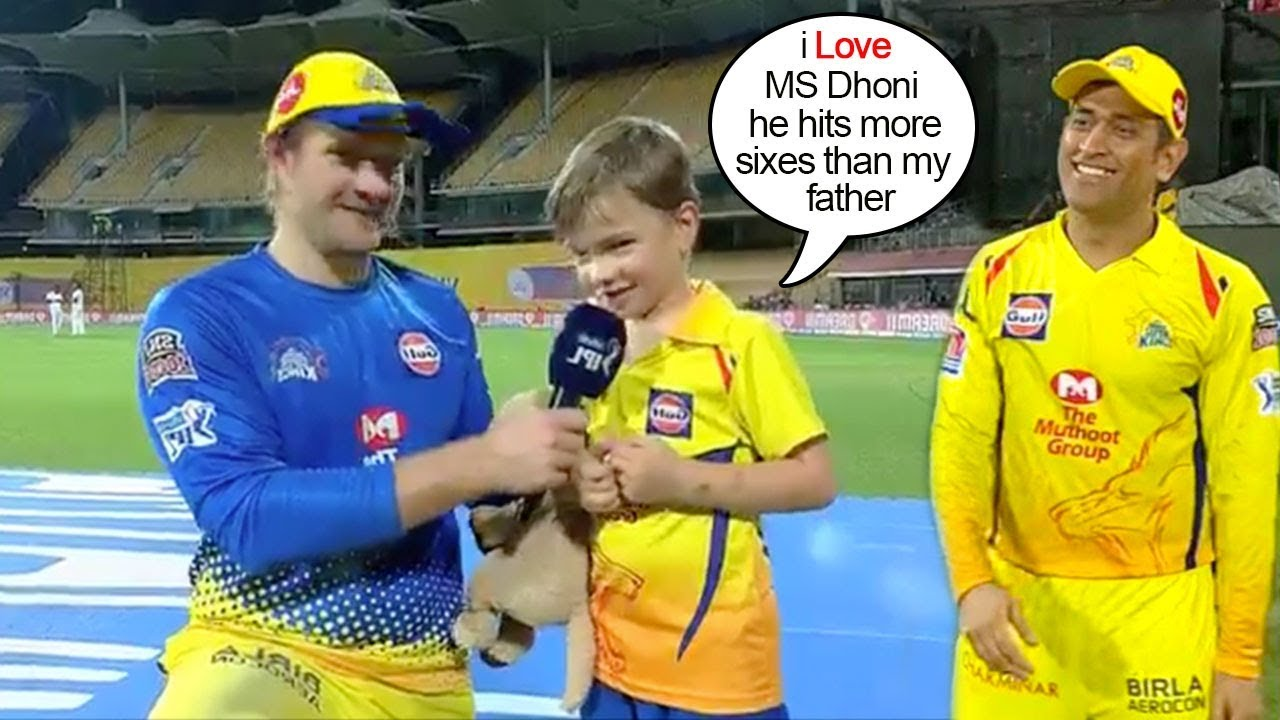 Photo of Shane Watson Asks Son Abt His Favourite Ipl Player aftr Match Presentation..What he says will melt u